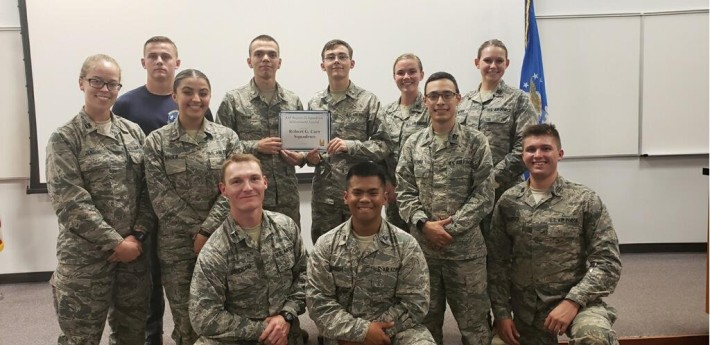 Arnold Air Society Robert G. Carr Squadron was awarded the best squadron in Region IX