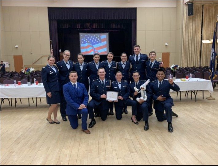 Arnold Air Society Robert G. Carr Squadron was voted the Regional IX Staff for the 2020 year.