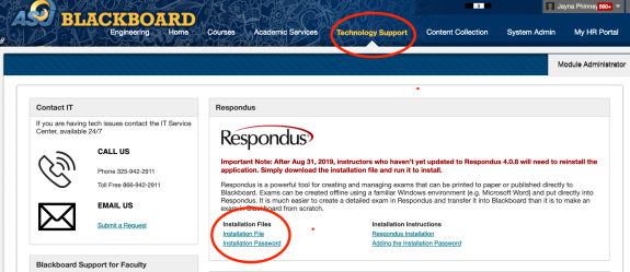 Here's a screenshot to show you how to navigate to the Respondus Campus-wide download instruc...