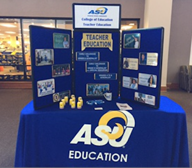 College of Education Table Display