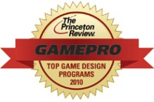 The Princeton Review graphic for the top game design programs.