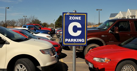Zone C parking lot at Angelo State
