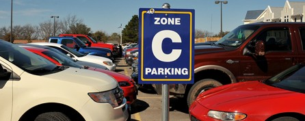 Zone C Parking lot for ASU Students